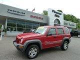 2002 Flame Red Jeep Liberty Sport 4x4 #64924869