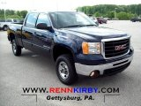 2009 Midnight Blue Metallic GMC Sierra 2500HD SLT Crew Cab 4x4 #64975751