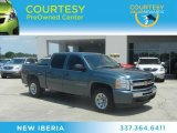 2010 Blue Granite Metallic Chevrolet Silverado 1500 LS Crew Cab #64976024