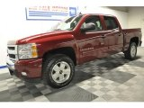 2009 Deep Ruby Red Metallic Chevrolet Silverado 1500 LT Z71 Crew Cab 4x4 #64975999