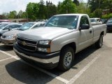 2006 Silver Birch Metallic Chevrolet Silverado 1500 Work Truck Regular Cab 4x4 #64975170