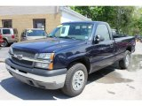2005 Dark Blue Metallic Chevrolet Silverado 1500 LS Regular Cab 4x4 #64975924