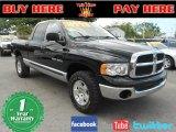 2005 Black Dodge Ram 1500 SLT Quad Cab 4x4 #64975891