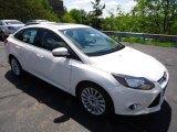 2012 White Platinum Tricoat Metallic Ford Focus Titanium Sedan #65041495