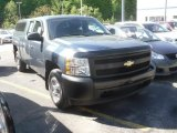 2007 Blue Granite Metallic Chevrolet Silverado 1500 Work Truck Extended Cab #65041337