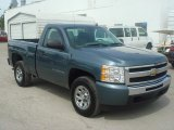 2009 Blue Granite Metallic Chevrolet Silverado 1500 LS Regular Cab 4x4 #65116667