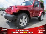 2012 Deep Cherry Red Crystal Pearl Jeep Wrangler Sahara 4x4 #65138059