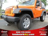 2012 Crush Orange Jeep Wrangler Sport S 4x4 #65138058
