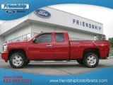 2008 Victory Red Chevrolet Silverado 1500 LT Extended Cab 4x4 #65137988