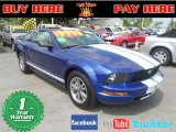 2005 Sonic Blue Metallic Ford Mustang V6 Deluxe Coupe #65138476