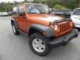 2010 Mango Tango Pearl Jeep Wrangler Sport 4x4 #65138197