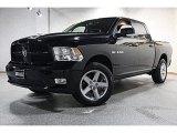 2009 Brilliant Black Crystal Pearl Dodge Ram 1500 Sport Crew Cab 4x4 #65184846
