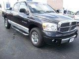 2007 Brilliant Black Crystal Pearl Dodge Ram 1500 Laramie Quad Cab #65184753