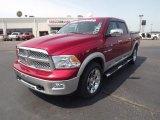 2009 Inferno Red Crystal Pearl Dodge Ram 1500 Laramie Crew Cab #65184992