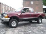 2000 Dark Toreador Red Metallic Ford F250 Super Duty XLT Extended Cab 4x4 #65184974