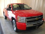 2010 Victory Red Chevrolet Silverado 1500 LS Extended Cab 4x4 #65185111