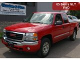 2005 Fire Red GMC Sierra 1500 SLT Extended Cab 4x4 #65184898