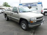 2000 Light Pewter Metallic Chevrolet Silverado 1500 LS Regular Cab 4x4 #65229711