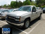 2006 Silver Birch Metallic Chevrolet Silverado 1500 Work Truck Regular Cab 4x4 #65229694