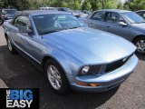 2007 Windveil Blue Metallic Ford Mustang V6 Deluxe Convertible #65229622