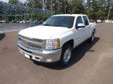2012 White Diamond Tricoat Chevrolet Silverado 1500 LT Crew Cab 4x4 #65229140