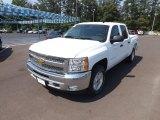 2012 Summit White Chevrolet Silverado 1500 LT Crew Cab 4x4 #65229137