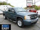 2007 Blue Granite Metallic Chevrolet Silverado 1500 LT Extended Cab 4x4 #65229396