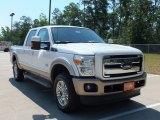 2012 White Platinum Metallic Tri-Coat Ford F250 Super Duty King Ranch Crew Cab 4x4 #65229357