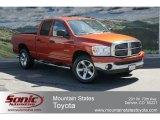 2008 Sunburst Orange Pearl Dodge Ram 1500 Big Horn Edition Quad Cab 4x4 #65228525