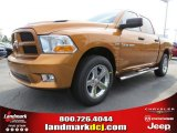2012 Tequila Sunrise Pearl Dodge Ram 1500 Express Crew Cab #65306838