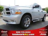 2012 Bright Silver Metallic Dodge Ram 1500 Express Quad Cab #65306836