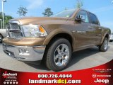 2012 Saddle Brown Pearl Dodge Ram 1500 Laramie Crew Cab #65306827