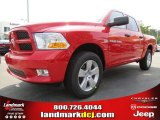 2012 Flame Red Dodge Ram 1500 Express Crew Cab #65306825