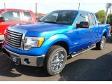 2012 Blue Flame Metallic Ford F150 XLT SuperCab 4x4 #65307108
