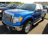 2012 Blue Flame Metallic Ford F150 XLT SuperCab 4x4 #65307094