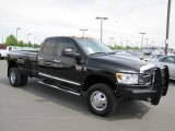 2009 Brilliant Black Crystal Pearl Dodge Ram 3500 Laramie Quad Cab 4x4 Dually #65307076