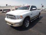 2011 Bright White Dodge Ram 1500 Laramie Longhorn Crew Cab 4x4 #65307005