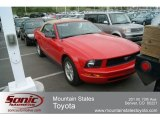 2007 Torch Red Ford Mustang V6 Deluxe Convertible #65306616