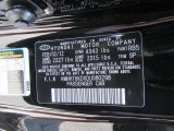 2013 Genesis Coupe Color Code for Becketts Black - Color Code: RB5