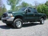 2002 Dark Highland Green Metallic Ford F250 Super Duty Lariat SuperCab 4x4 #65362098
