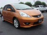 2011 Orange Revolution Metallic Honda Fit Sport #65362090