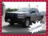 2007 Graystone Metallic Chevrolet Silverado 1500 Work Truck Crew Cab 4x4 #65361694