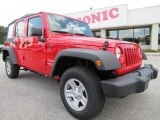 2012 Flame Red Jeep Wrangler Unlimited Sport 4x4 #65361683