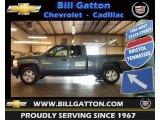 2009 Blue Granite Metallic Chevrolet Silverado 1500 LT Extended Cab 4x4 #65412315
