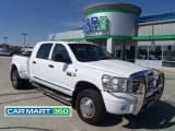 2008 Bright White Dodge Ram 3500 Laramie Mega Cab 4x4 Dually #65412216