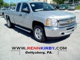 2012 Silver Ice Metallic Chevrolet Silverado 1500 LT Extended Cab 4x4 #65440602