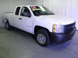 2008 Summit White Chevrolet Silverado 1500 Work Truck Extended Cab #65448701