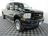 2003 Black Ford F250 Super Duty XLT Crew Cab 4x4 #65448675