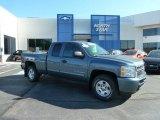 2010 Blue Granite Metallic Chevrolet Silverado 1500 LT Extended Cab 4x4 #65448578