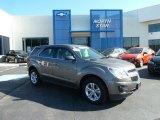 2010 Mocha Steel Metallic Chevrolet Equinox LS AWD #65448574